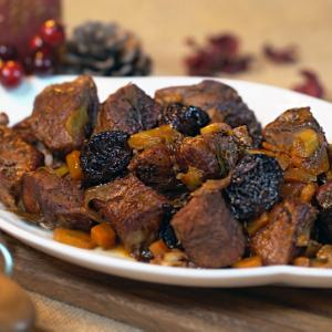 Pork Casserole with Plums
