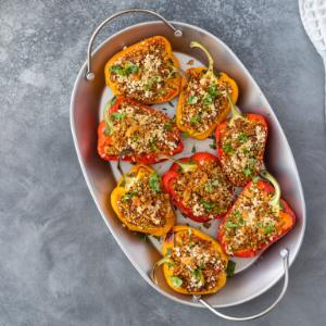 Stuffed Peppers with Quinoa and Tofu