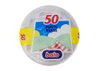 Baio Plastic White Plates 50 Pieces