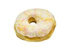 White Donut Ring with Sprinkles